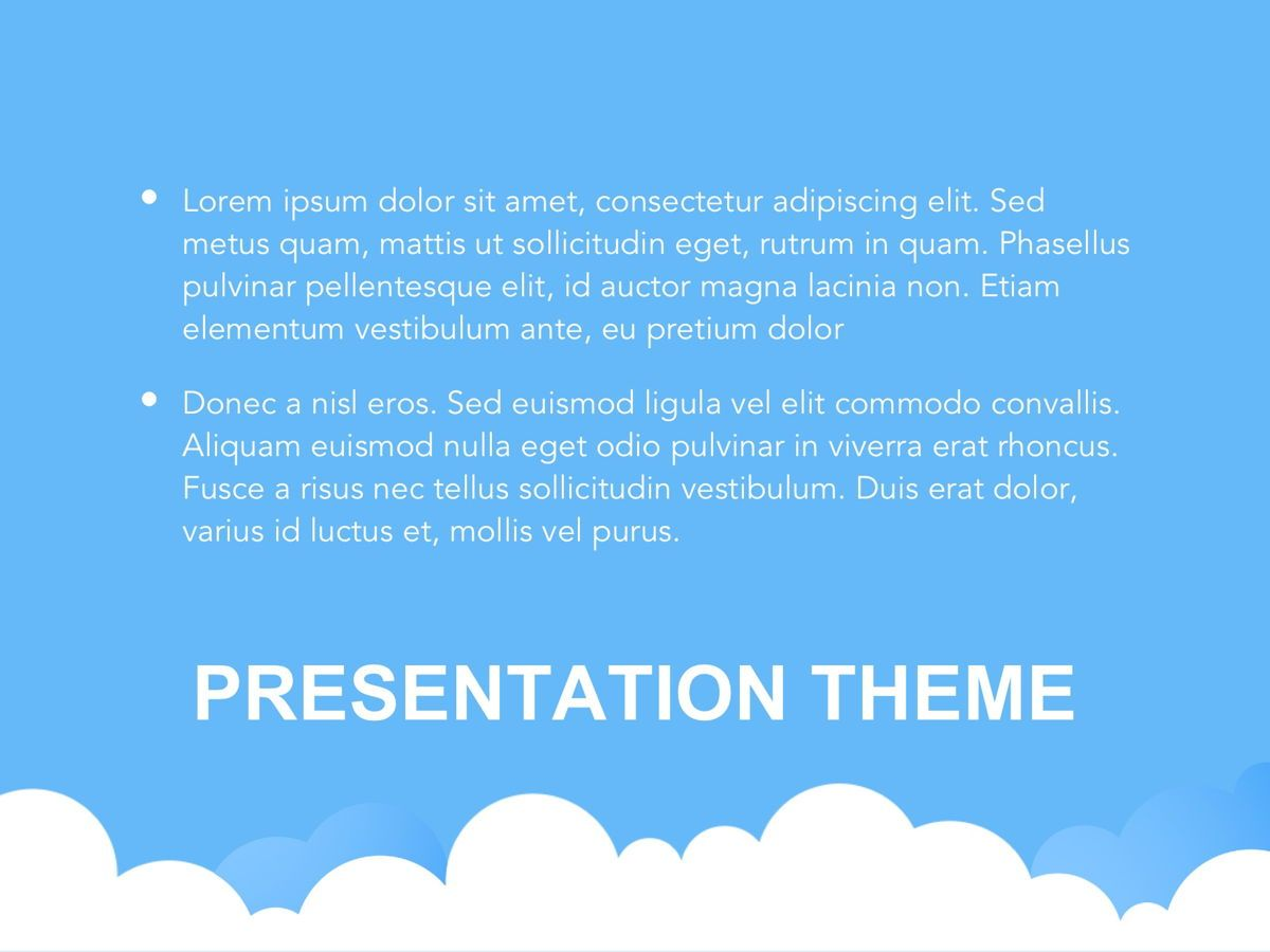 Cloudy Google Slides Template, Slide 9, 05073, Education Charts and Diagrams — PoweredTemplate.com