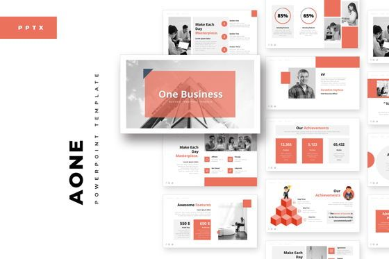 Business Models: AOne Business PowerPoint Template #05074