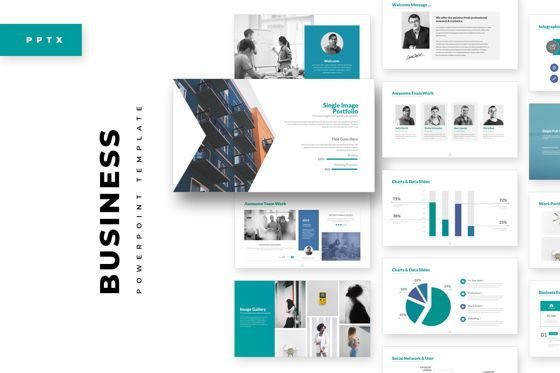 Business Models: Business PowerPoint Template #05076