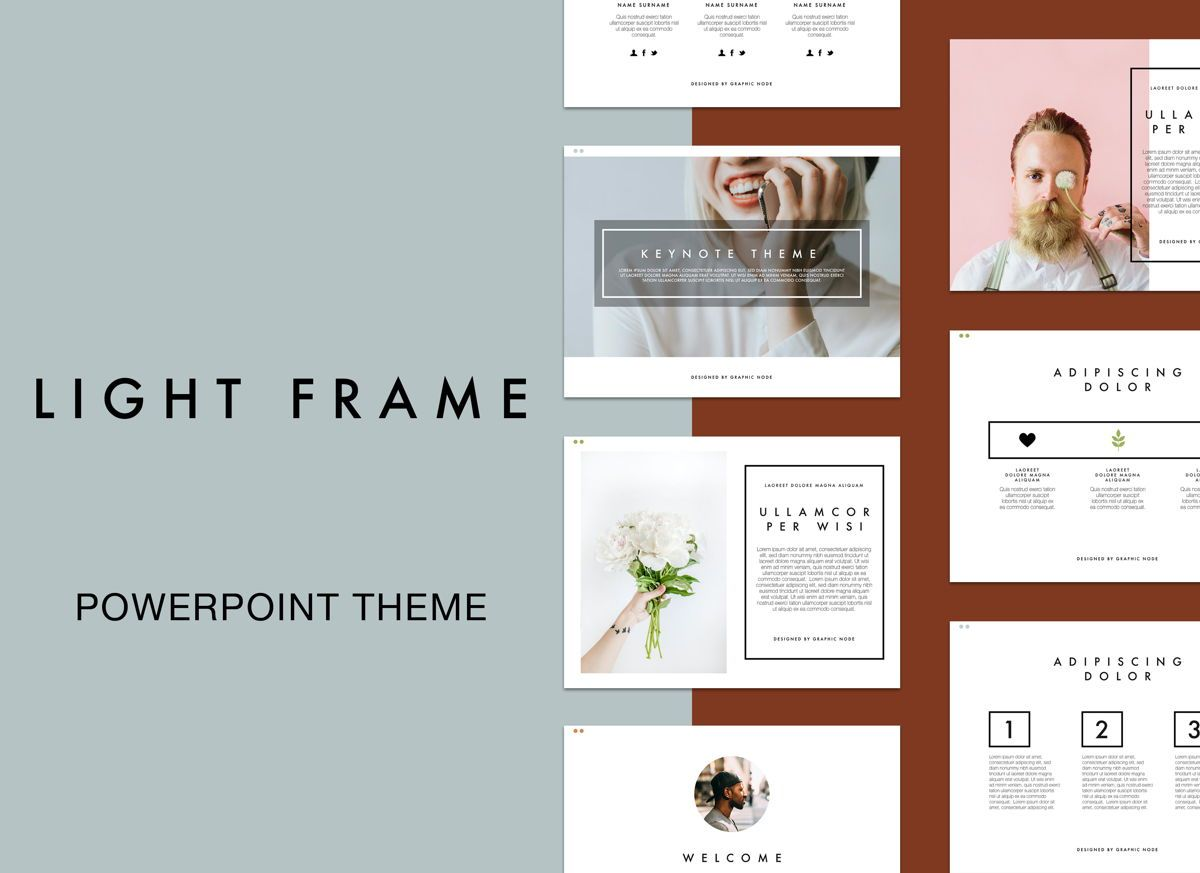 Light Frame Powerpoint Presentation Template, 05077, Presentation Templates — PoweredTemplate.com