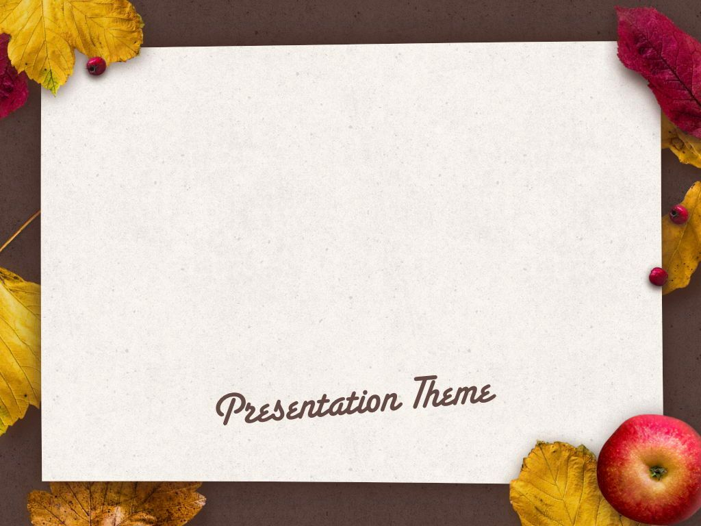 Golden Leaves Keynote Theme, Slide 10, 05079, Presentation Templates — PoweredTemplate.com