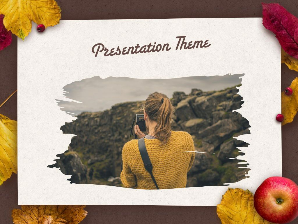 Golden Leaves Keynote Theme, Slide 15, 05079, Presentation Templates — PoweredTemplate.com