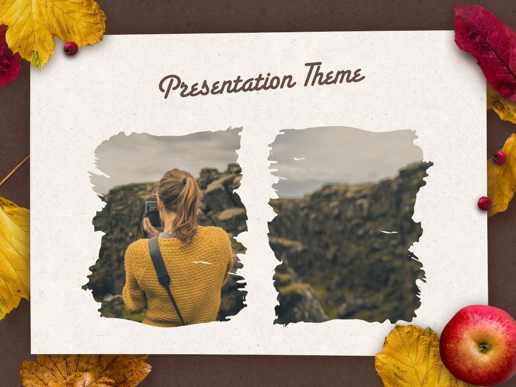 Golden Leaves Keynote Theme, Slide 16, 05079, Presentation Templates — PoweredTemplate.com