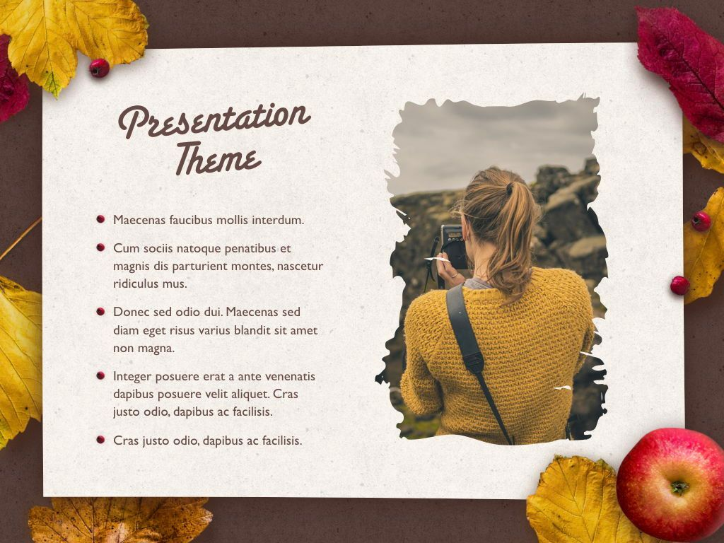 Golden Leaves Keynote Theme, Slide 17, 05079, Presentation Templates — PoweredTemplate.com