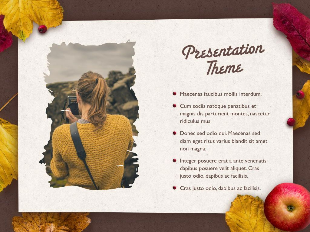Golden Leaves Keynote Theme, Slide 18, 05079, Presentation Templates — PoweredTemplate.com