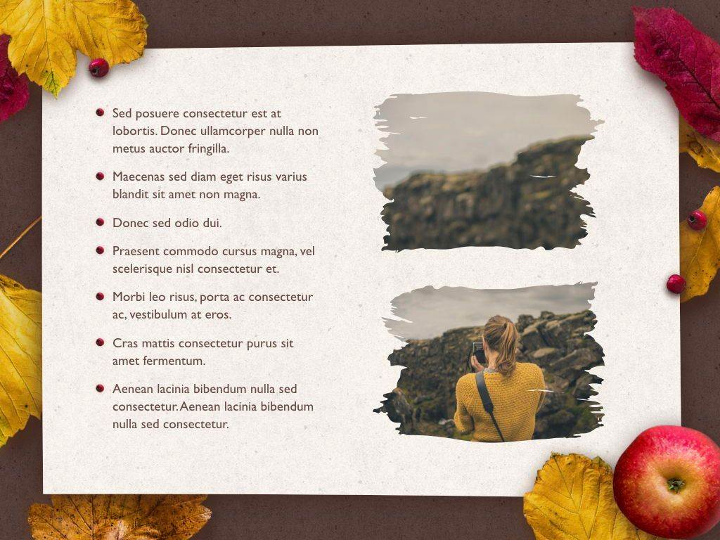 Golden Leaves Keynote Theme, Slide 23, 05079, Presentation Templates — PoweredTemplate.com
