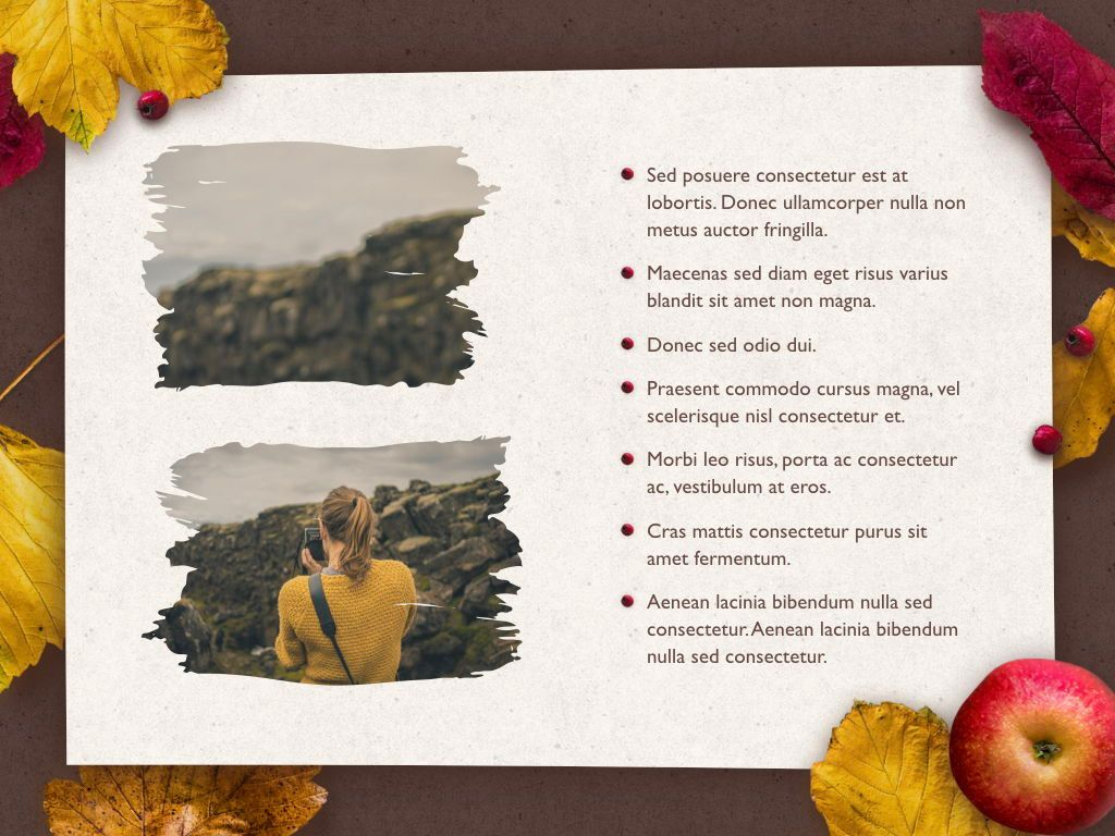 Golden Leaves Keynote Theme, Slide 24, 05079, Presentation Templates — PoweredTemplate.com