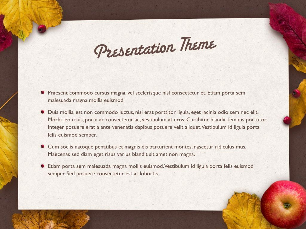 Golden Leaves Keynote Theme, Slide 3, 05079, Presentation Templates — PoweredTemplate.com