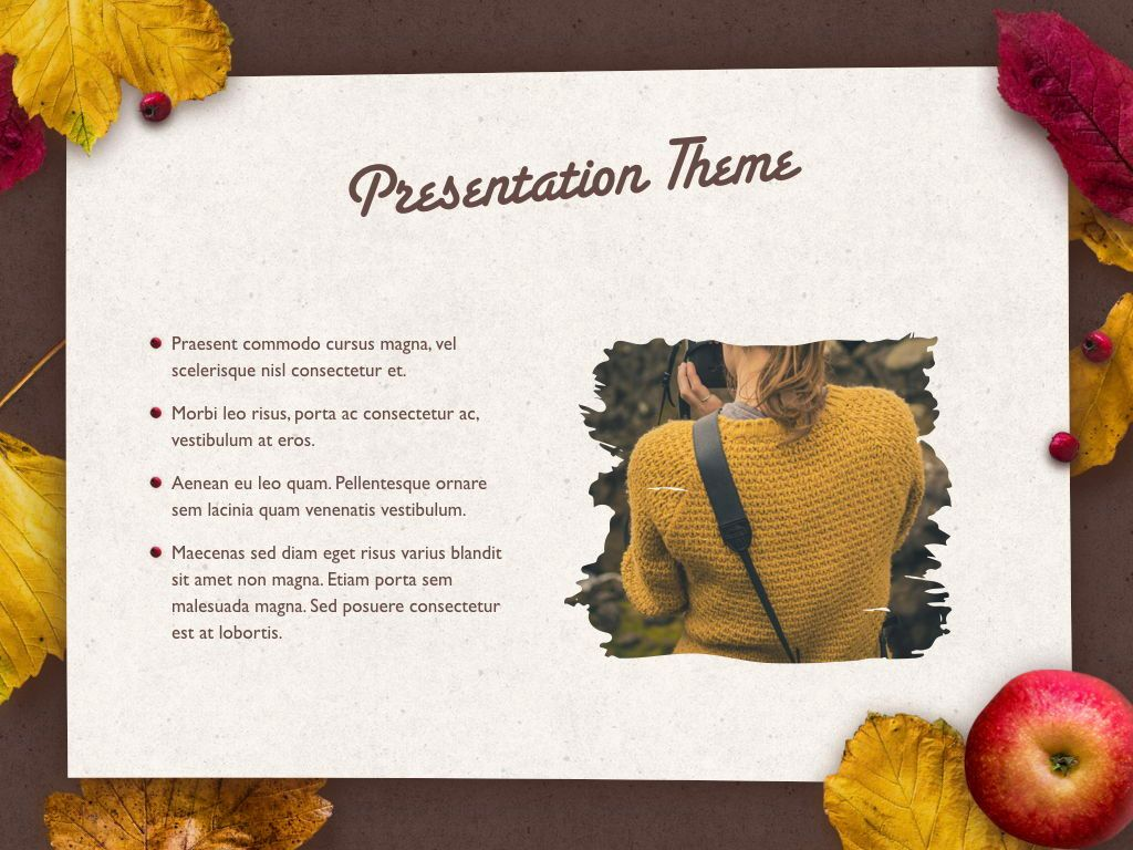 Golden Leaves Keynote Theme, Slide 30, 05079, Presentation Templates — PoweredTemplate.com