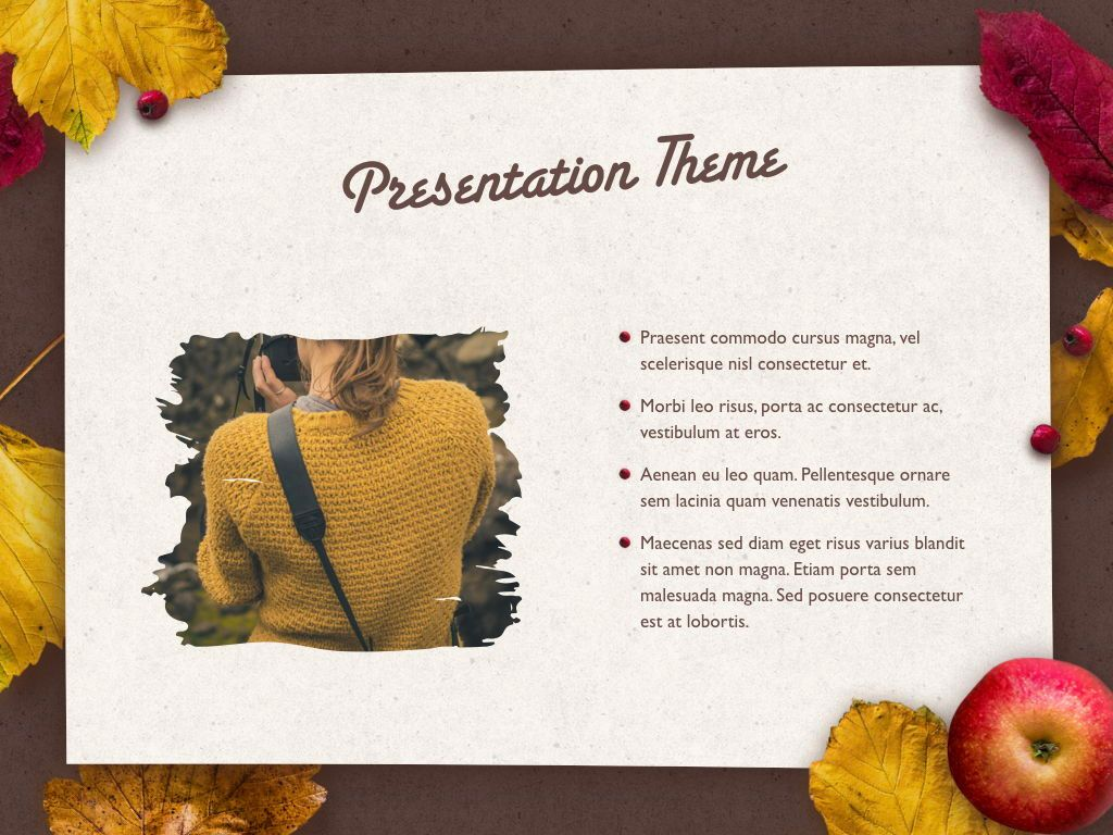 Golden Leaves Keynote Theme, Slide 31, 05079, Presentation Templates — PoweredTemplate.com