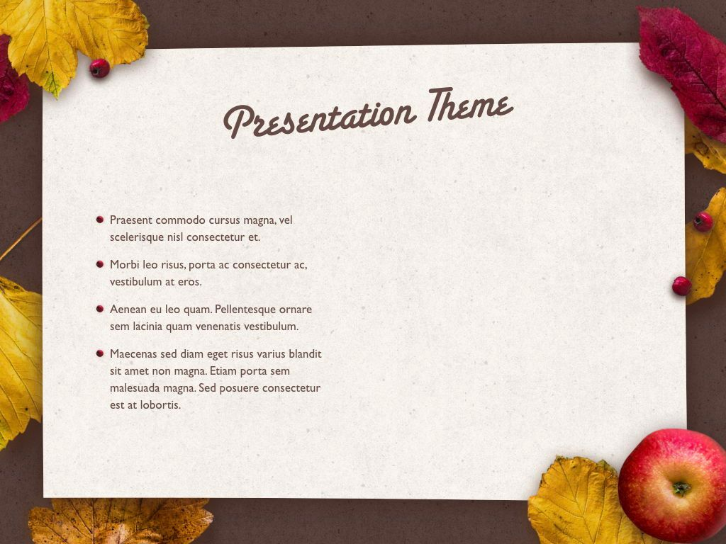 Golden Leaves Keynote Theme, Slide 32, 05079, Presentation Templates — PoweredTemplate.com