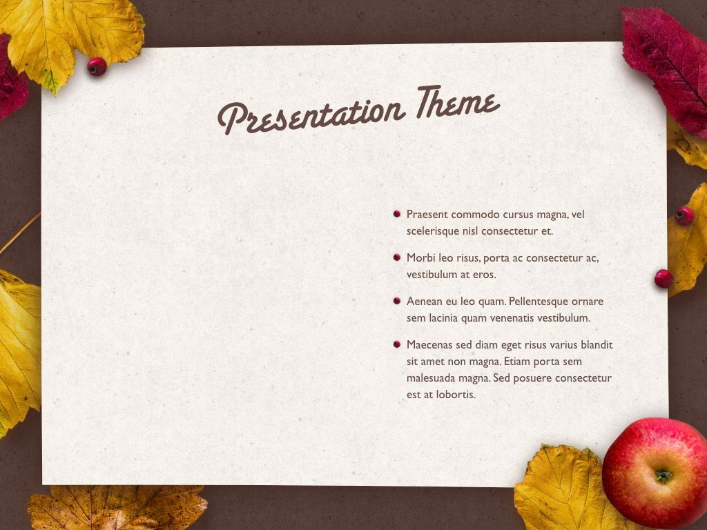 Golden Leaves Keynote Theme, Slide 33, 05079, Presentation Templates — PoweredTemplate.com