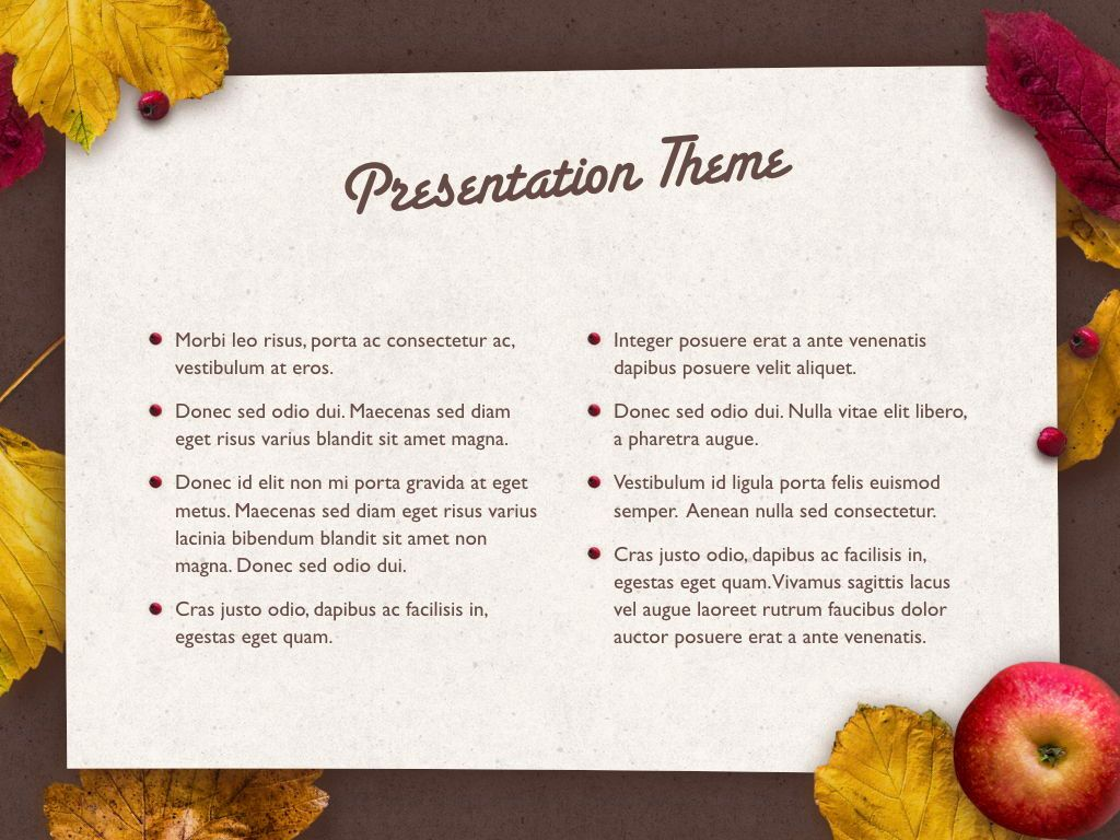 Golden Leaves Keynote Theme, Slide 4, 05079, Presentation Templates — PoweredTemplate.com