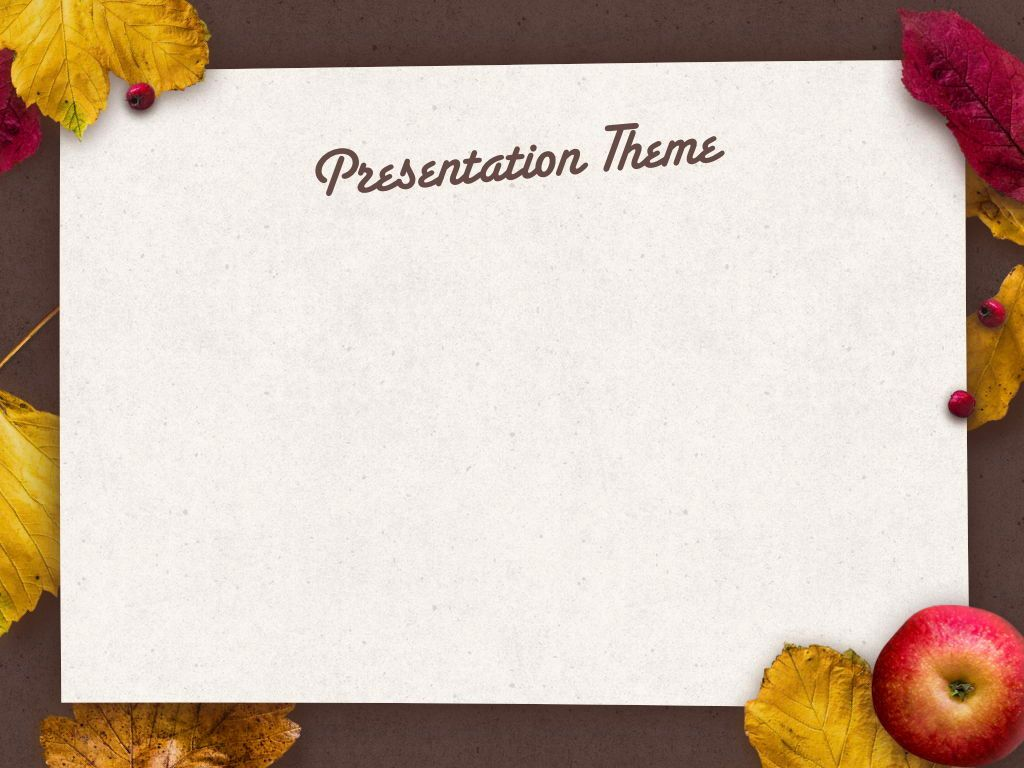 Golden Leaves Keynote Theme, Slide 8, 05079, Presentation Templates — PoweredTemplate.com