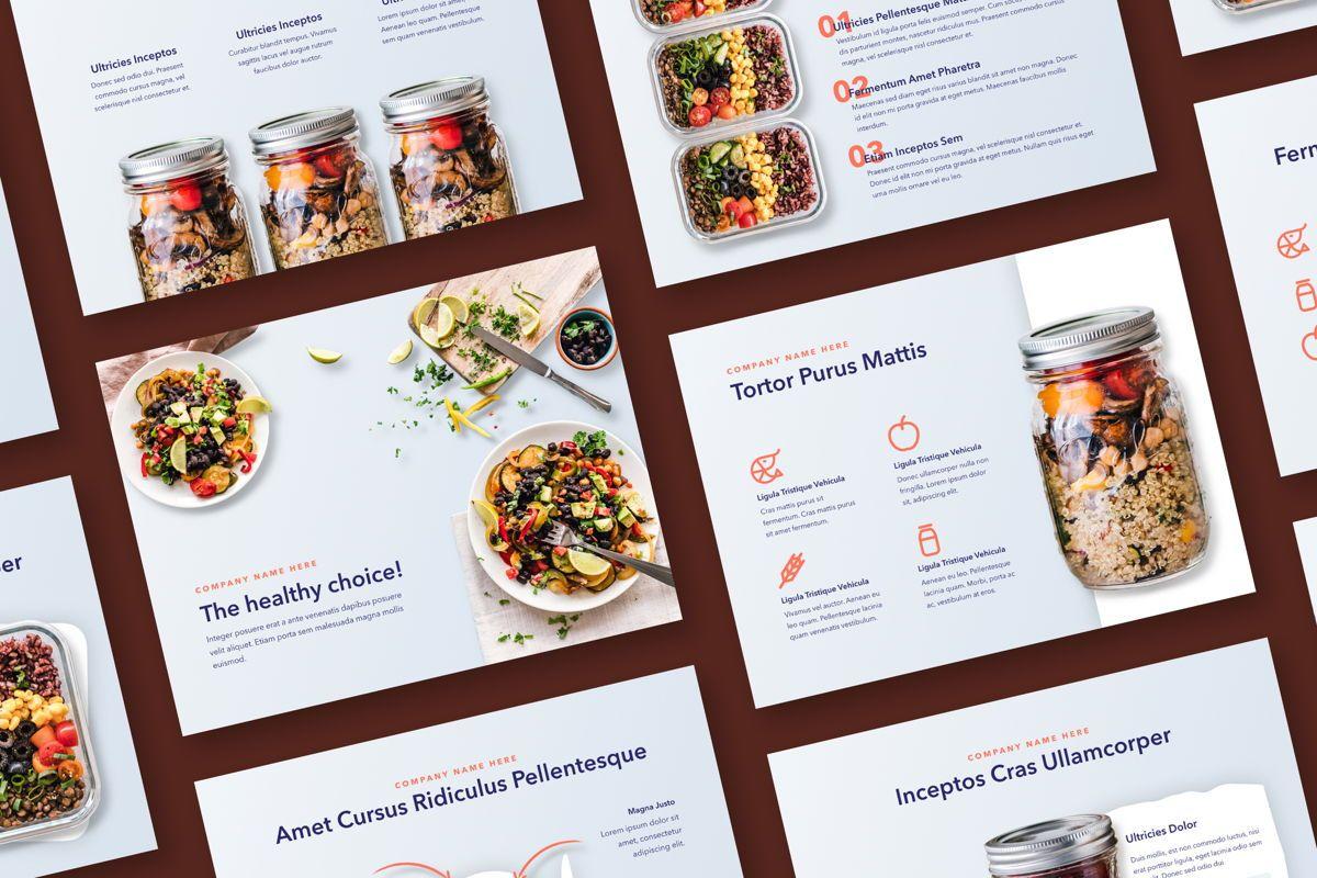Nutritious Google Slides Template, 05080, Presentation Templates — PoweredTemplate.com