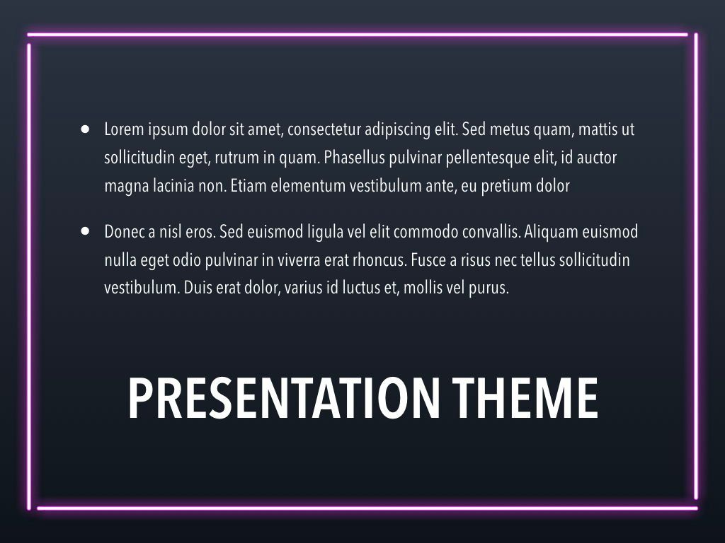 Neon Splash Keynote Theme, Slide 11, 05081, Presentation Templates — PoweredTemplate.com