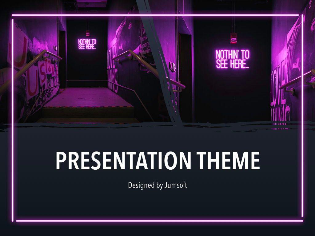 Neon Splash Keynote Theme, Slide 14, 05081, Presentation Templates — PoweredTemplate.com