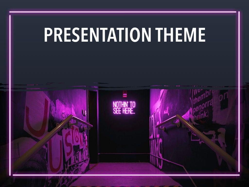 Neon Splash Keynote Theme, Slide 15, 05081, Presentation Templates — PoweredTemplate.com