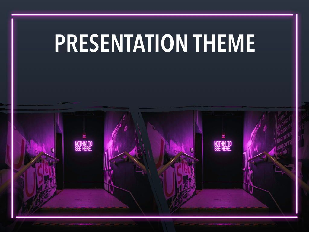 Neon Splash Keynote Theme, Slide 16, 05081, Presentation Templates — PoweredTemplate.com