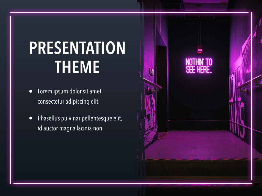 Neon Splash Keynote Theme, Slide 17, 05081, Presentation Templates — PoweredTemplate.com