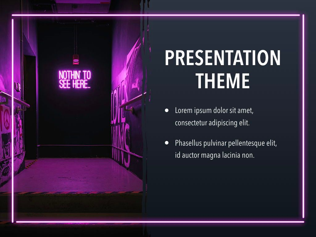 Neon Splash Keynote Theme, Slide 18, 05081, Presentation Templates — PoweredTemplate.com