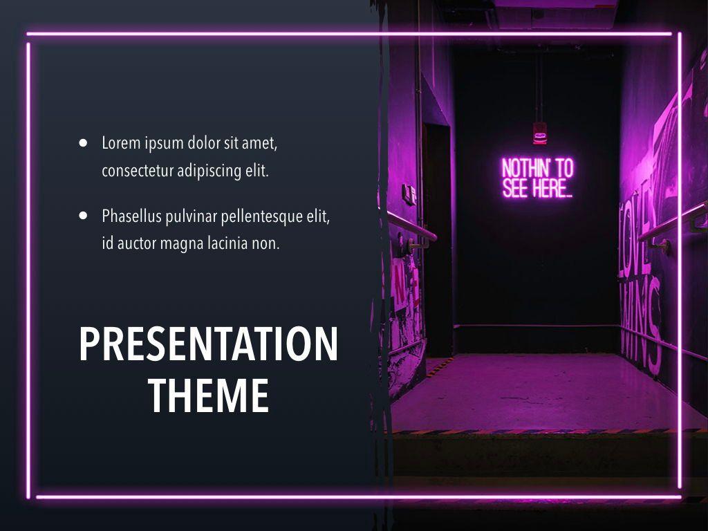 Neon Splash Keynote Theme, Slide 19, 05081, Presentation Templates — PoweredTemplate.com