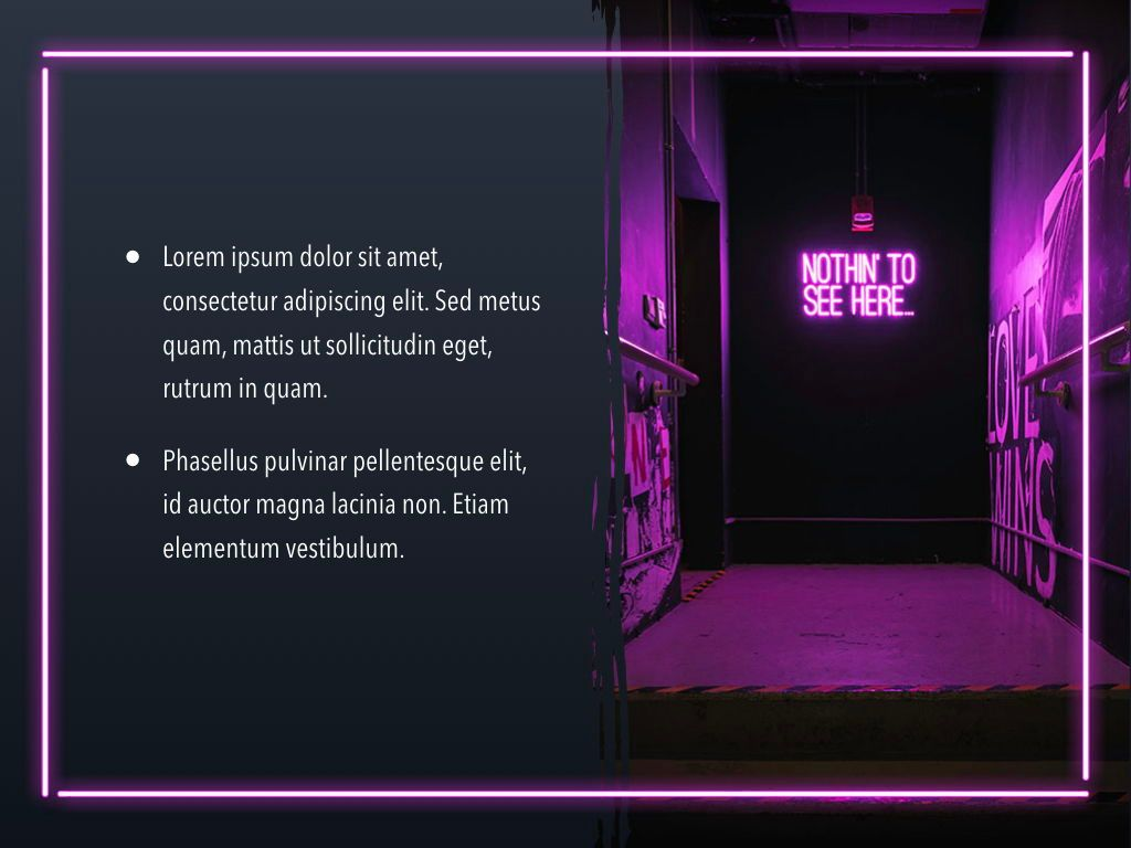Neon Splash Keynote Theme, Slide 21, 05081, Presentation Templates — PoweredTemplate.com