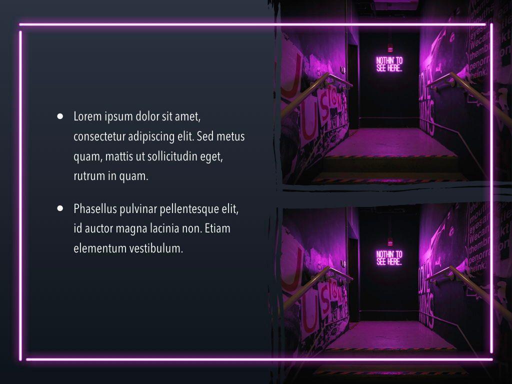 Neon Splash Keynote Theme, Slide 23, 05081, Presentation Templates — PoweredTemplate.com