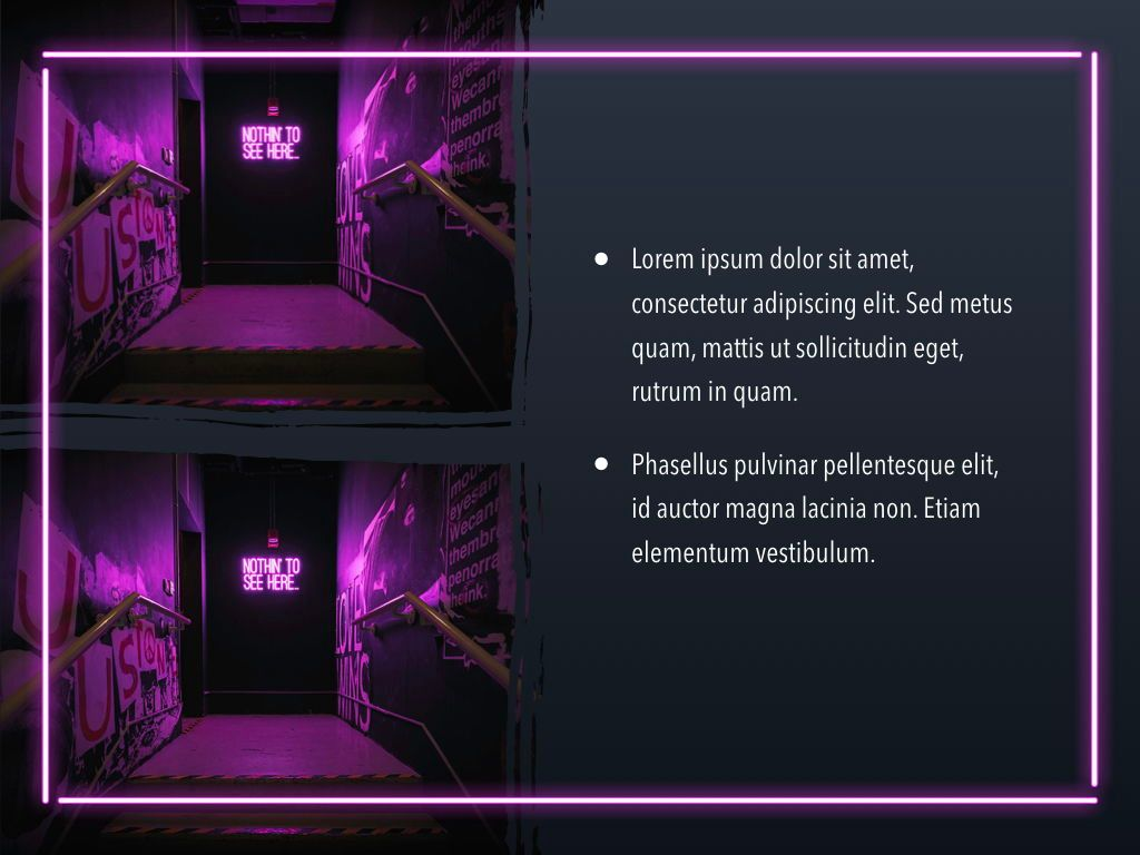 Neon Splash Keynote Theme, Slide 24, 05081, Presentation Templates — PoweredTemplate.com