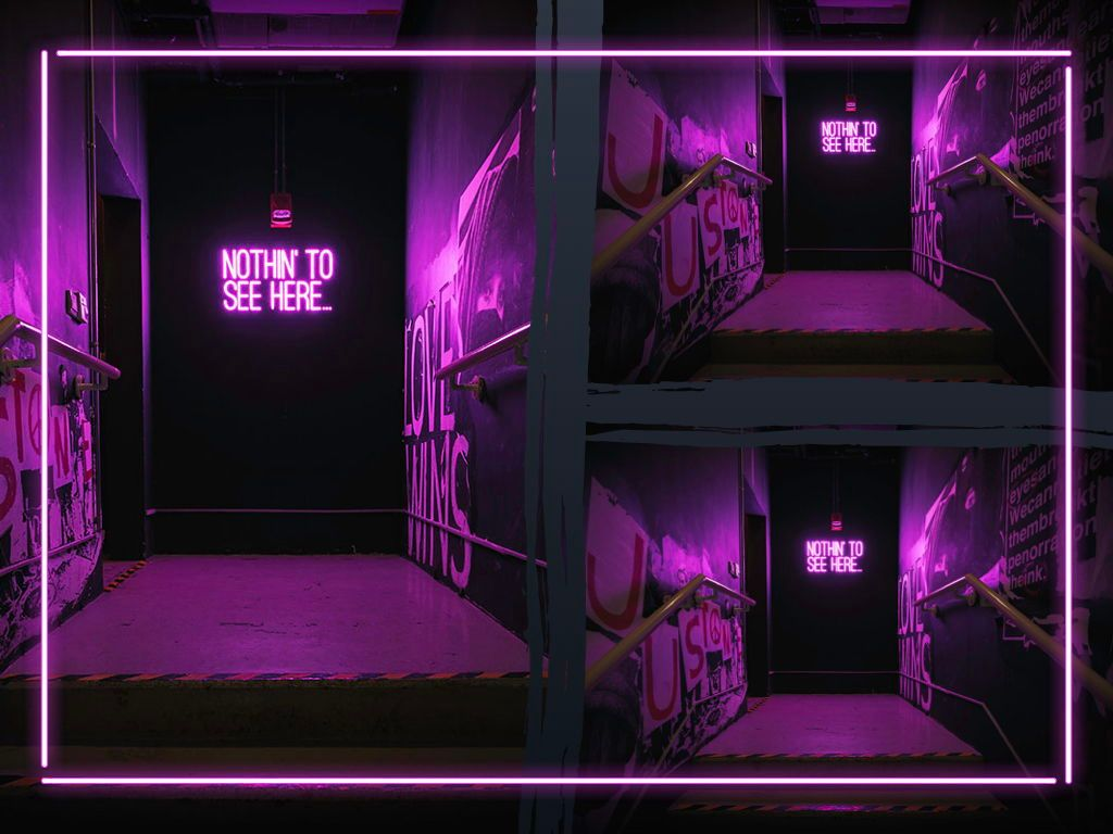 Neon Splash Keynote Theme, Slide 28, 05081, Presentation Templates — PoweredTemplate.com