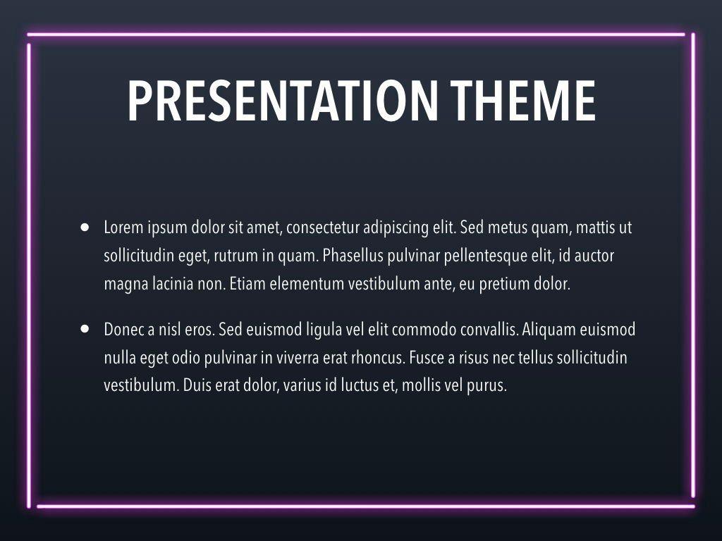 Neon Splash Keynote Theme, Slide 3, 05081, Presentation Templates — PoweredTemplate.com