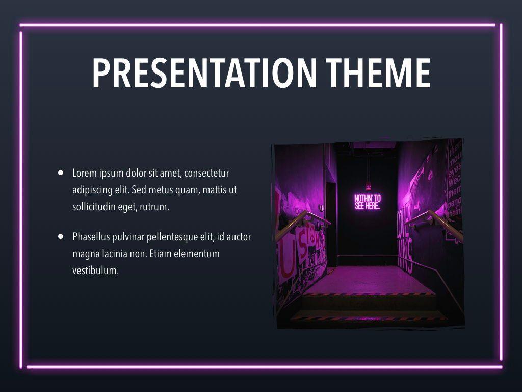Neon Splash Keynote Theme, Slide 30, 05081, Presentation Templates — PoweredTemplate.com