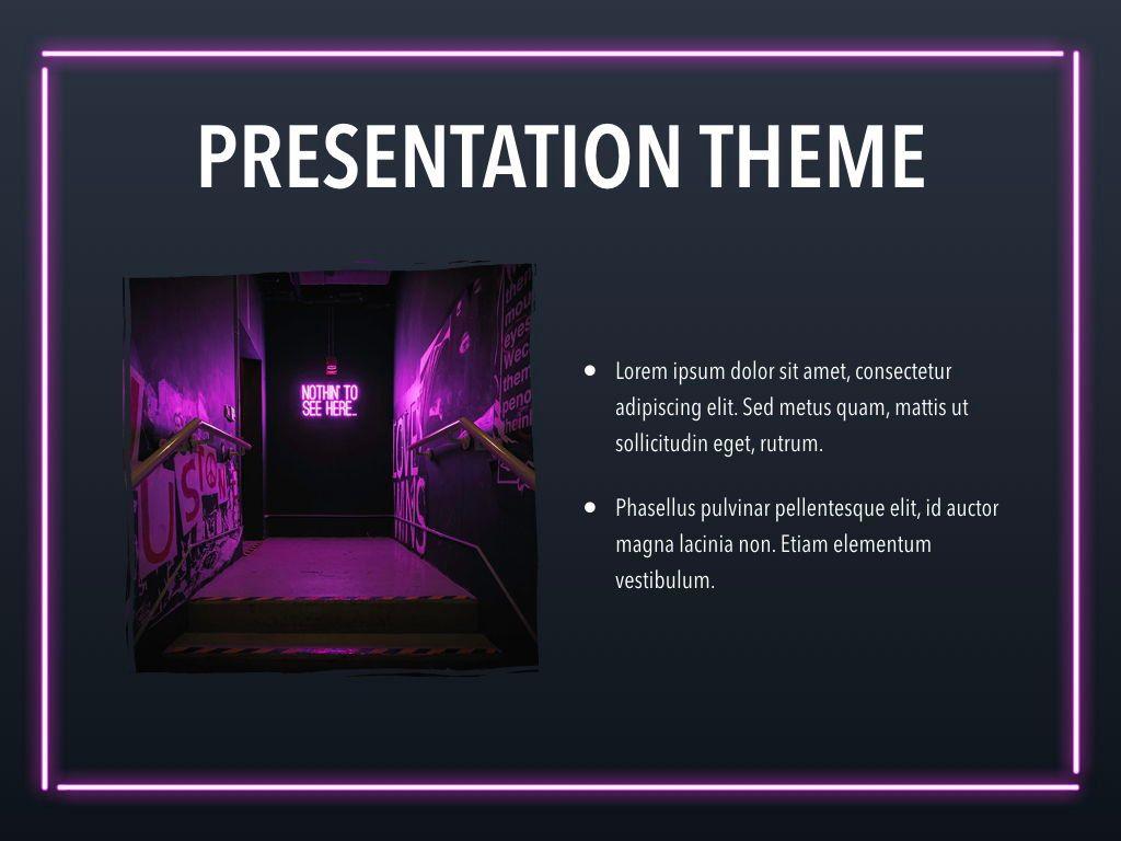 Neon Splash Keynote Theme, Slide 31, 05081, Presentation Templates — PoweredTemplate.com