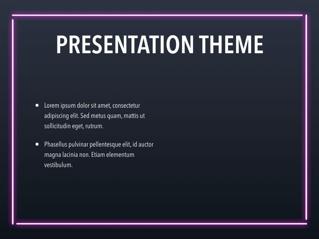 Neon Splash Keynote Theme, Slide 32, 05081, Presentation Templates — PoweredTemplate.com