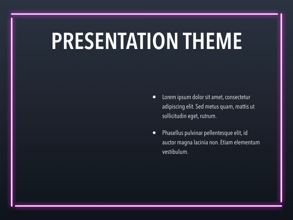 Neon Splash Keynote Theme, Slide 33, 05081, Presentation Templates — PoweredTemplate.com