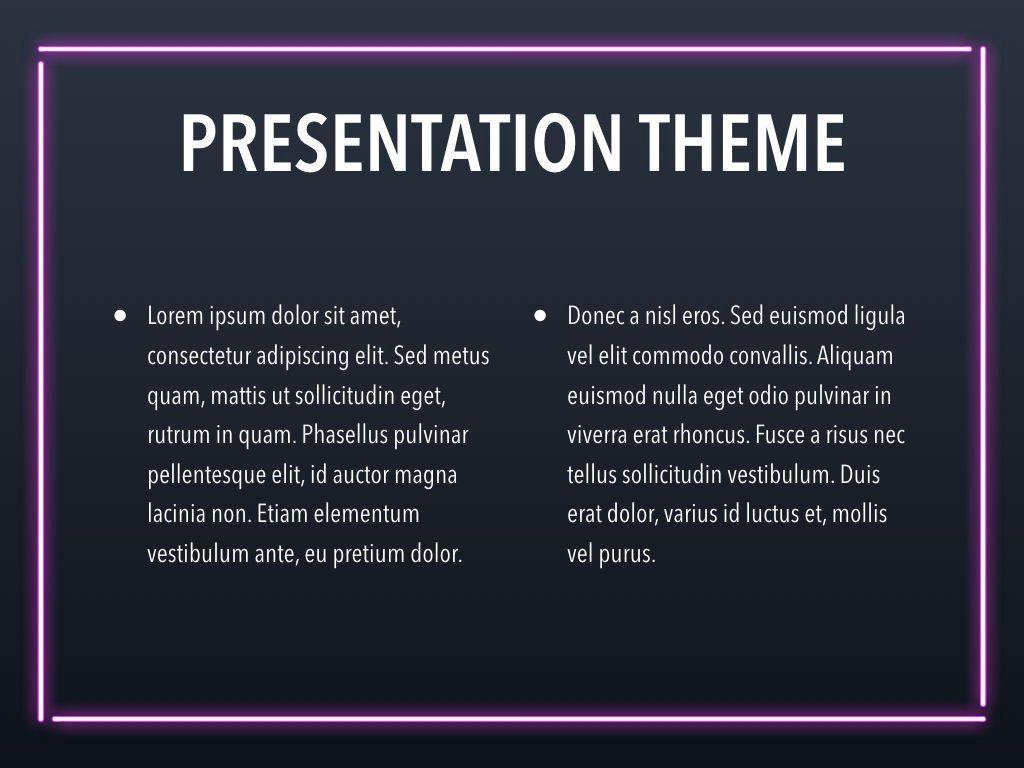 Neon Splash Keynote Theme, Slide 4, 05081, Presentation Templates — PoweredTemplate.com