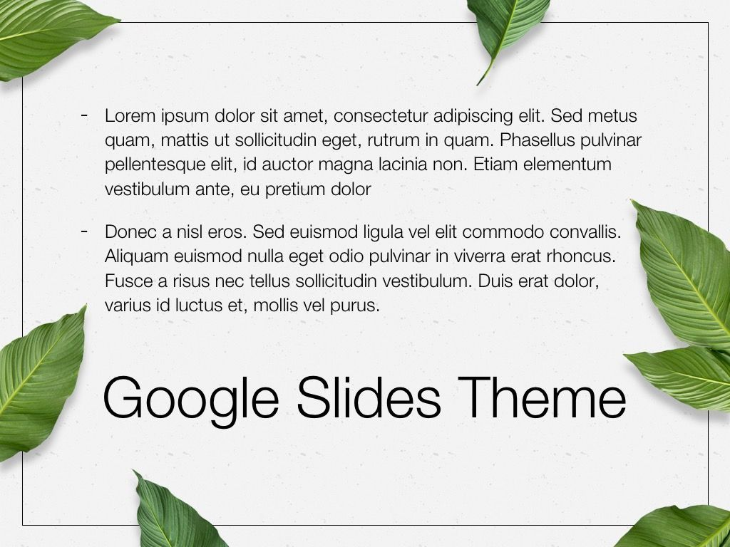 In Green Google Slides Theme, Slide 10, 05082, Presentation Templates — PoweredTemplate.com
