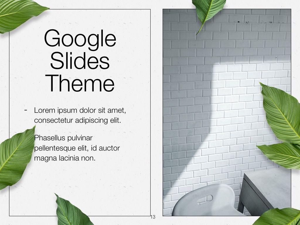 In Green Google Slides Theme, Slide 14, 05082, Presentation Templates — PoweredTemplate.com