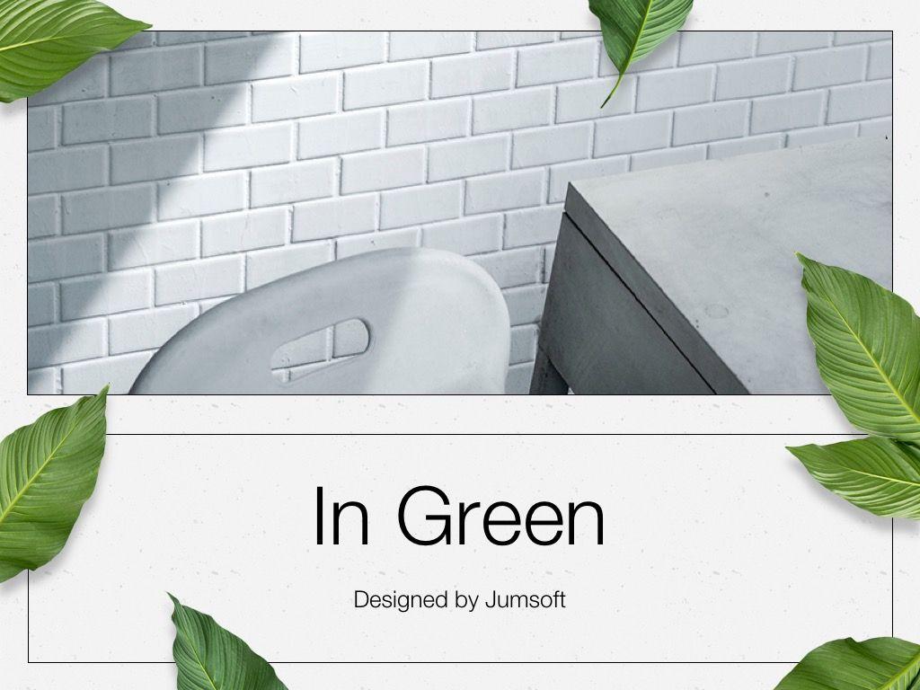 In Green Google Slides Theme, Slide 2, 05082, Presentation Templates — PoweredTemplate.com