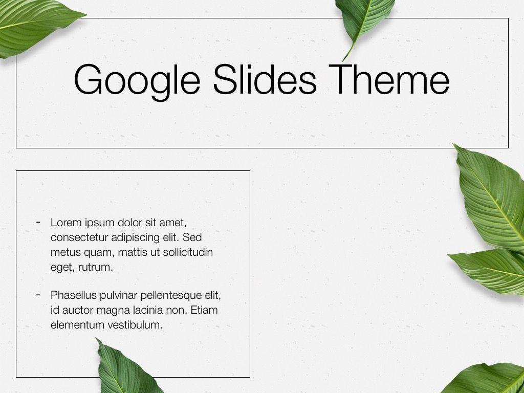 In Green Google Slides Theme, Slide 29, 05082, Presentation Templates — PoweredTemplate.com