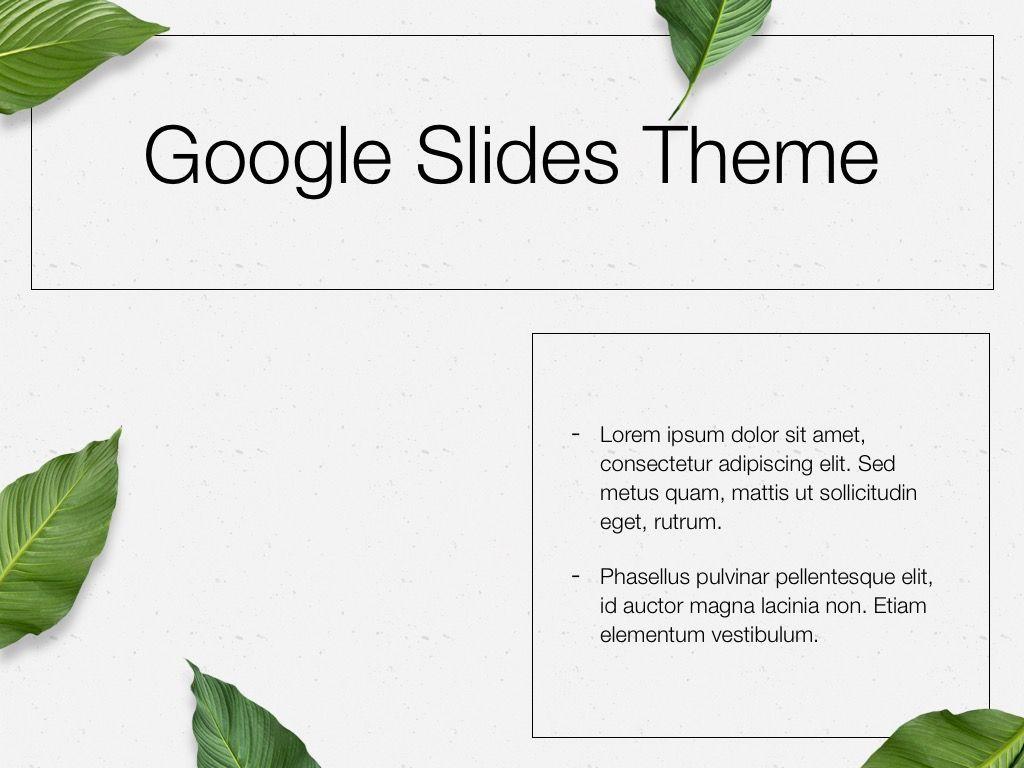 In Green Google Slides Theme, Slide 30, 05082, Presentation Templates — PoweredTemplate.com