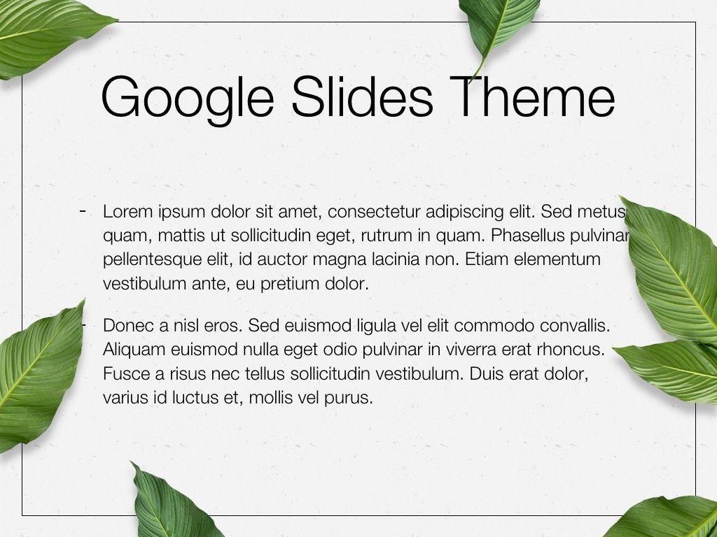 In Green Google Slides Theme, Slide 4, 05082, Presentation Templates — PoweredTemplate.com