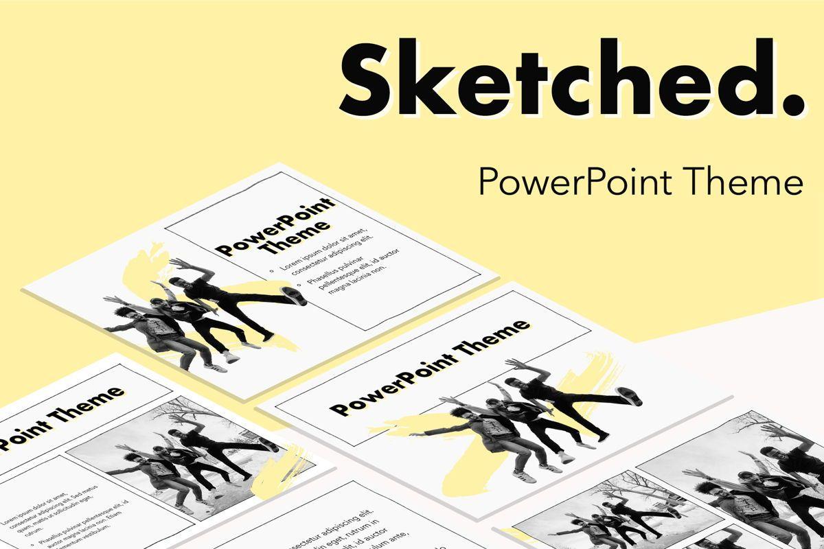 Sketched PowerPoint Theme, 05083, Presentation Templates — PoweredTemplate.com