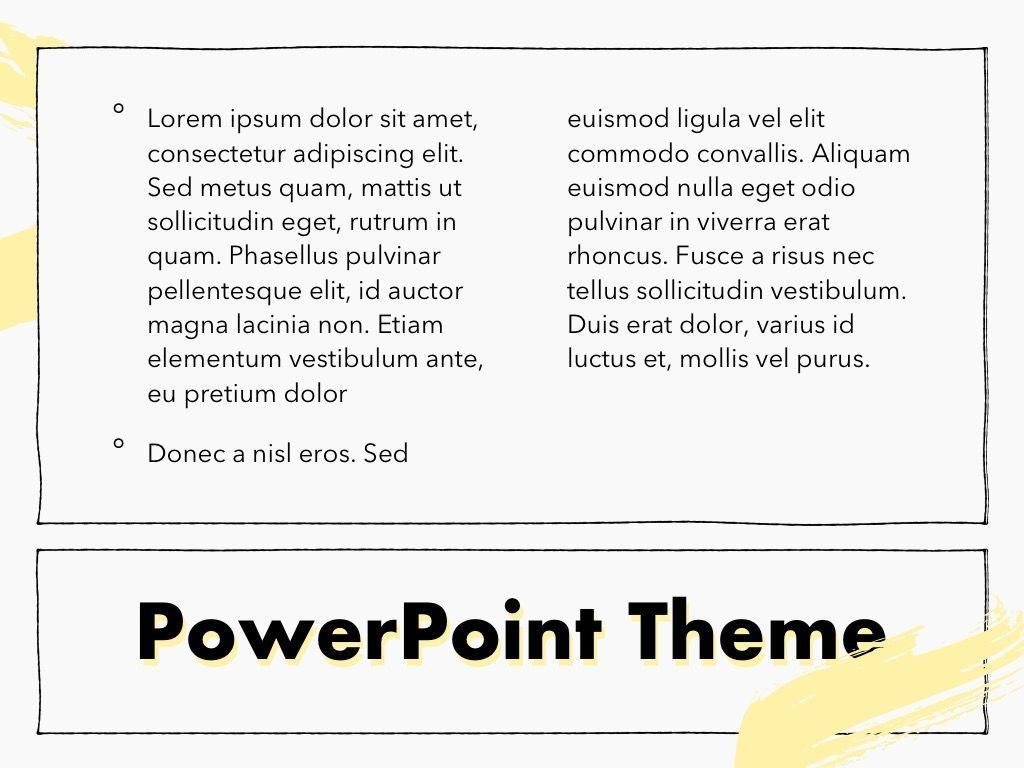 Sketched PowerPoint Theme, Slide 13, 05083, Presentation Templates — PoweredTemplate.com