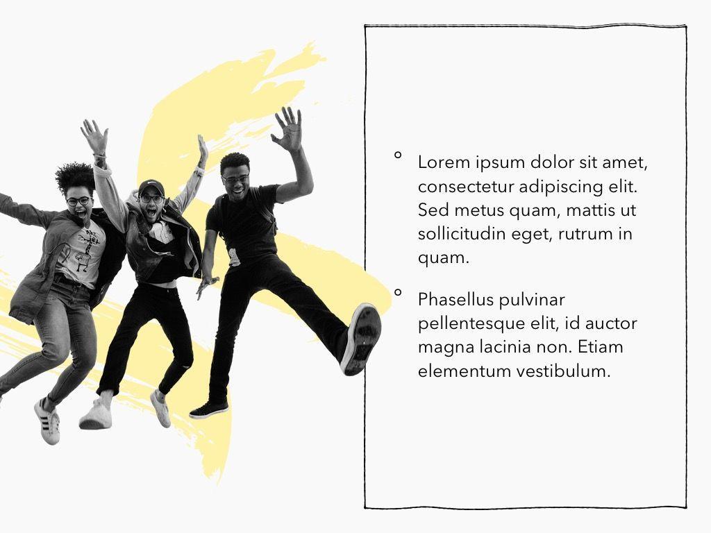 Sketched PowerPoint Theme, Slide 22, 05083, Presentation Templates — PoweredTemplate.com