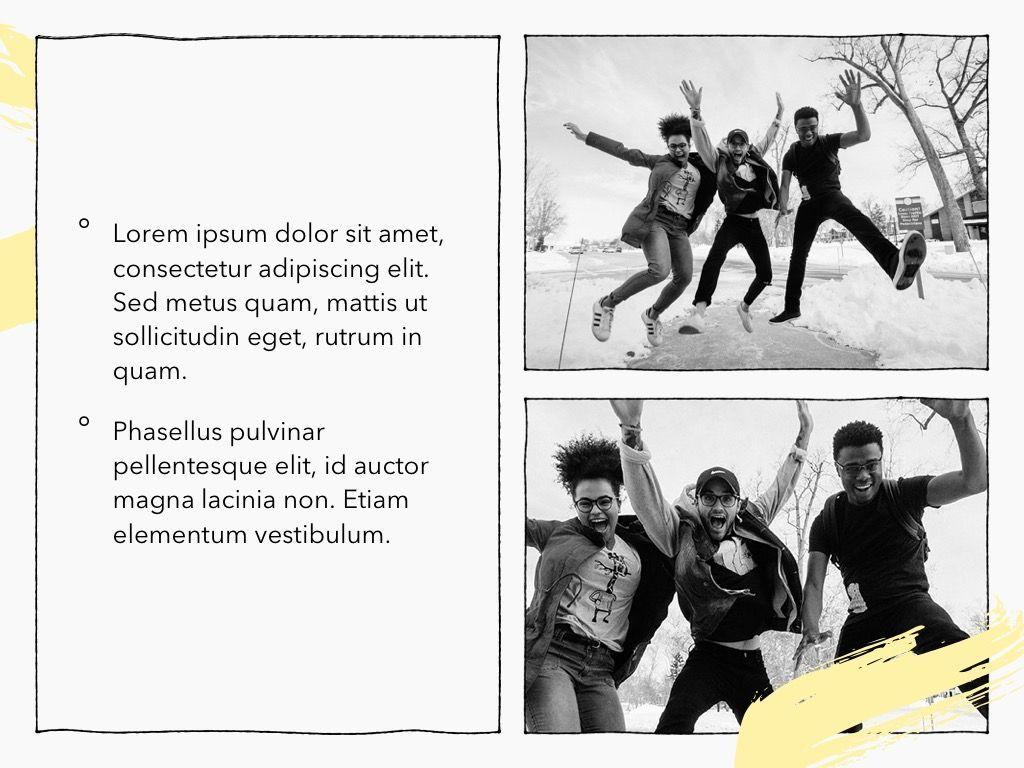 Sketched PowerPoint Theme, Slide 23, 05083, Presentation Templates — PoweredTemplate.com