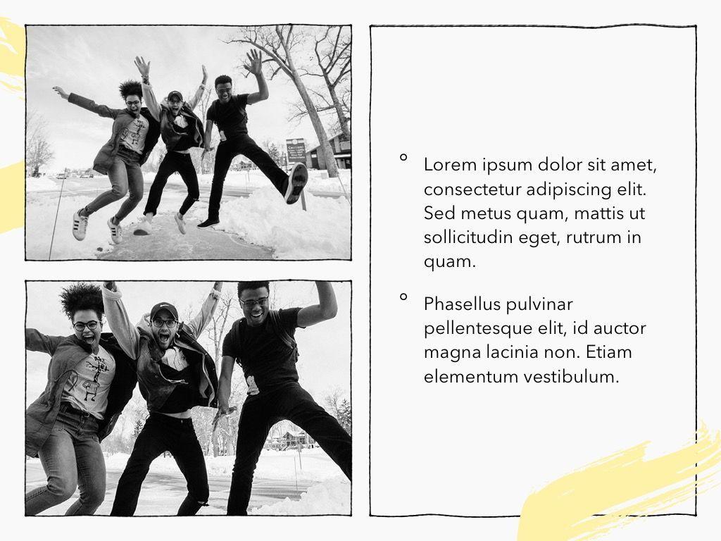 Sketched PowerPoint Theme, Slide 24, 05083, Presentation Templates — PoweredTemplate.com