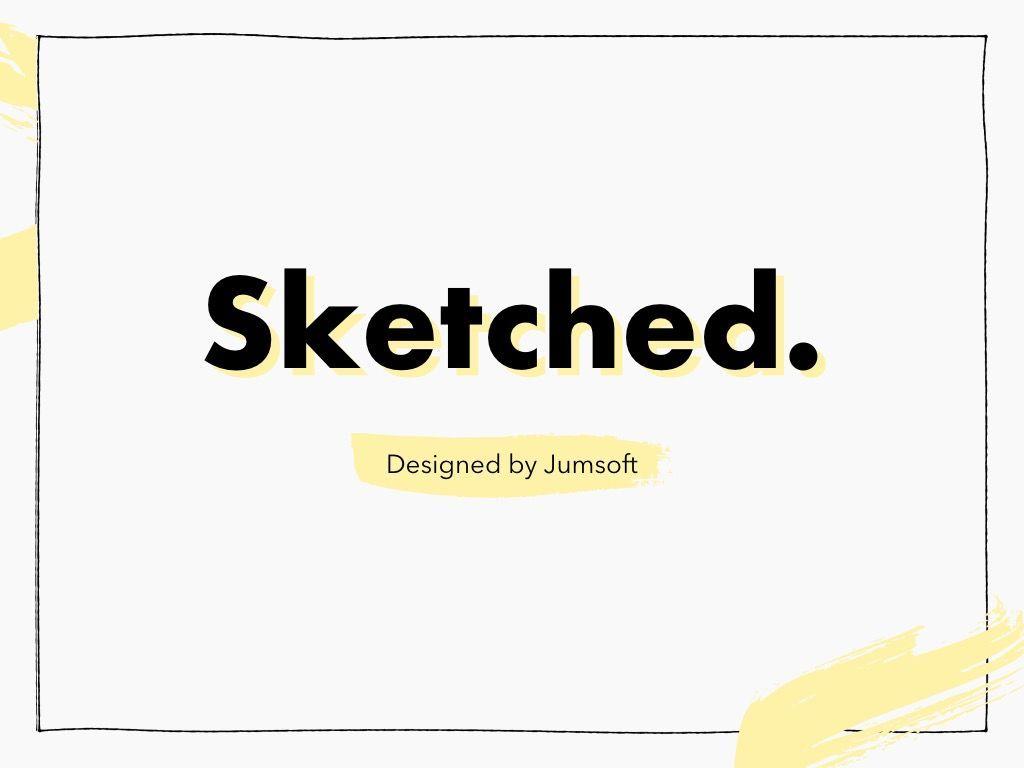 Sketched PowerPoint Theme, Slide 3, 05083, Presentation Templates — PoweredTemplate.com