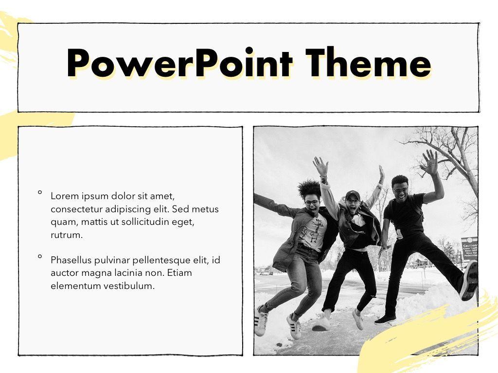 Sketched PowerPoint Theme, Slide 30, 05083, Presentation Templates — PoweredTemplate.com