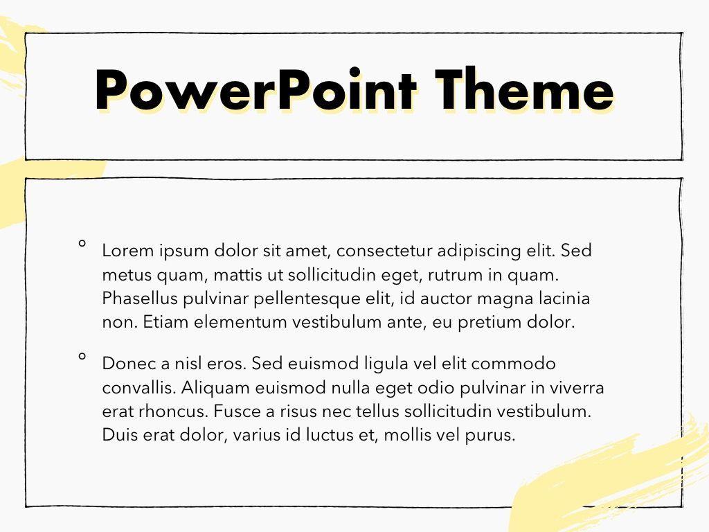 Sketched PowerPoint Theme, Slide 4, 05083, Presentation Templates — PoweredTemplate.com